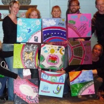 Teambuilding Schilderen Workshop Training Drenthe