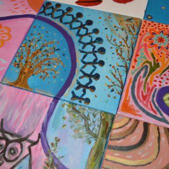 workshop schilderen vergaderen team drenthe 222 - Tijd voor ontwikkeling - Groepsactiviteiten, workshops, teambuilding en trainingen Drenthe