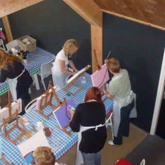 workshop schilderen vergaderen team drenthe 333 - Tijd voor ontwikkeling - Groepsactiviteiten, workshops, teambuilding en trainingen Drenthe